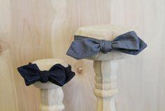 Denim bow ties!
