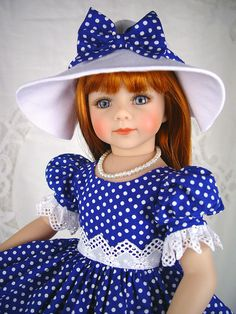 "Dress fits Maru and Friends, 19"" doll, 20"" doll. ** Little Charmers Doll Designs #DiannaEffner"