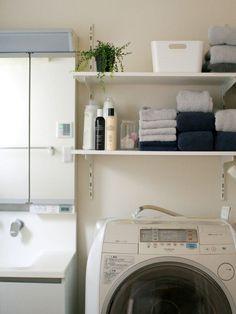 洗面所をウキウキするインテリアに☆生活感がでやすい洗面所をお洒落に ... 色味を揃える