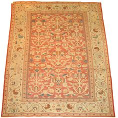 A fine persian sultanabad rug in our collection. Lovely subtle colors and great patina!