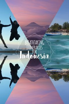 Breathtaking itinerary suggestions on where you can spend a week, 7days, departing from Bali. You can either go west and visit: Java, Kawah Ijen, Mt Bromo, Yogyakarta, Borobudur, Prambanan and Batukaras. Or go east and see: Lombok, Gili Islands and Flores.