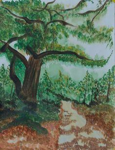 Corbett jungle... acrylic on paper