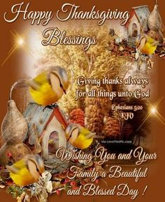 Happy Thanksgiving Blessings Religious Quote