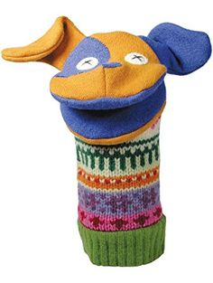 """Cate and Levi 12"""" Handmade Puppy Dog Hand Puppet (Premium Reclaimed Wool), Colors Will Vary ❤ Cate and Levi"""