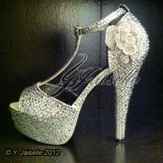 Wedding Heels for immediate sale size 10 . Heel is 5 inches $300 email yjaiselle@gmail.com