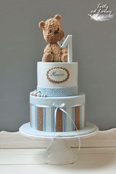 Ideas For Cake Fondant Baby Bebe Fondant Baby, Fondant Cupcakes, Fun Cupcakes, Baby Shower Cupcakes, Shower Cakes, Baby Boy Shower, Baby Birthday Cakes, Baby Boy Cakes, Teddy Bear Birthday Cake