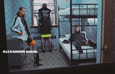 alexander wang 2014 fall winter campaign3 Models Get Arrested in Alexander Wang's Fall 2014 Campaign