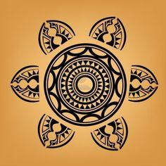Maoríes del tatuaje de estilo polinesio