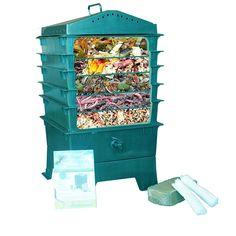 Tray Worm Compost Bin, Dark Green