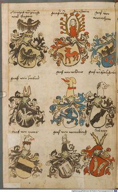 Wappen besonders von deutschen Geschlechtern Süddeutschland ?, 1475 - 1560 Cod.icon. 309  Folio 5v