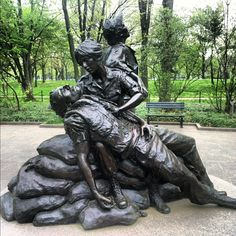 Vietnam Woman Veterans Memorial.. When I was here, & I saw this, here was a note on it from one of the wives husbands friends saying, that the husband wanted his dog tags & badges left on her memorial. I'll never forget that.