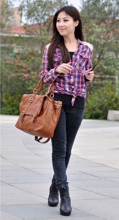 New Arrival Casual Solid Color Zipper Big Bag For Women (CAMEL) China Wholesale -
