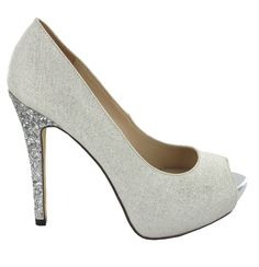 9621e5357a1 Zapato de tacón alto con plataforma en Plateado. Cómodo y elegante. Ref.6532