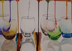 Akvarell kép Alcoholic Drinks, Wine, Glass, Drinkware, Corning Glass, Liquor Drinks, Alcoholic Beverages, Liquor, Yuri