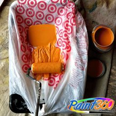 Tips and Tricks: Save the messy clean up, use either a plastic bag or aluminium foil on your Paint Tray so you never have to clean again.
