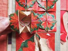 folded paper sewing kit, folded paper sewing kit