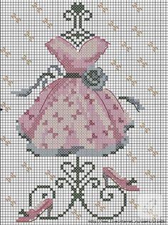 Kanaviçe elbise ve şablonu – 10marifet.org