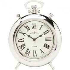 Stolní hodiny Fireplace - stříbrné | KARE Design