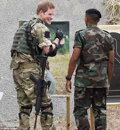 3/8/12: Prince Harry at target range at the soldier camp in Kingston, Jamaica