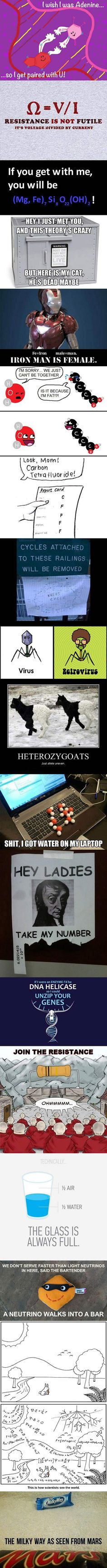 Science humor.