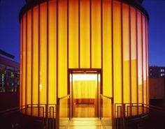James Turrell Skyspace, at Henry Art Gallery in Seattle. Backlit ellipse