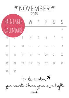 November 2015 - printable kalender | Elske | www.elskeleenstra.nl