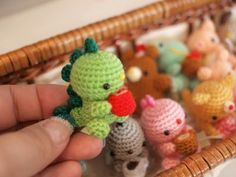Tiny amigurumi, all made from the same (free!) pattern. Site is in Russian, use web translator.