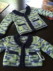 This jacket's pattern is written with an easy to follow step by step instructions. It's carefully designed to perfectly fit baby's from birth up to 18month.