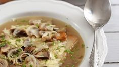 Francúzska hubová polievka