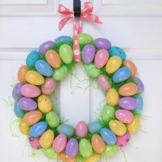 Easter Egg Wreath - finally something to do with all those plastic easter eggs after the kids are grown...