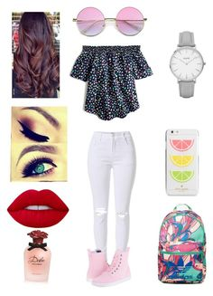 """Colorful"" by michelle-martinez890 on Polyvore featuring J.Crew, Dr. Martens, adidas, Kate Spade, Lime Crime, Dolce&Gabbana and Topshop"