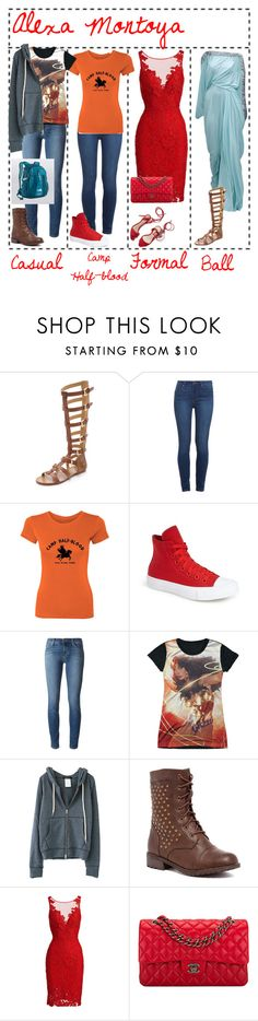 """""""Alexa Montoya outfits!! (Heroes of Olympus Oc)"""" by raeging-fangirl2003 ❤ liked on Polyvore featuring belle by Sigerson Morrison, Paige Denim, Converse, J Brand, Trevco, ML Monique Lhuillier, Loeffler Randall, Chanel, The North Face and OC"""