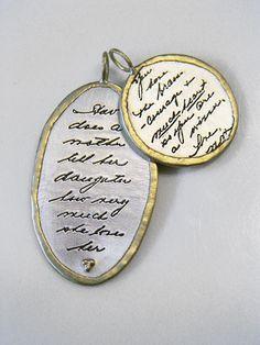 Cassandra Erin Jewelry - Treasured words from Mom...