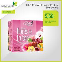 O chá misto traz o sabor de chás de flores (hibisco, erva-mate, chá preto, capim cidreira) e frutas (maçã, laranja e limão). Tudo isso numa única mistura com sabor de cereja com baunilha fácil e rápido de preparar! http://www.lojarelvaverde.com.br/cha-misto-flores-e-frutas-duom-10-saches-p1394