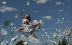 Theatrical, Wonderful Photographs Of Women 'Floating' In Enchanting Scenes