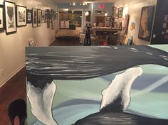 Loved working on a new painting at the gallery last night!  Getting ready for the Downtown Monroe Fine Art Fair!