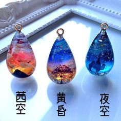 Kawaii Jewelry, Cute Jewelry, Diy Crafts For Girls, Diy Resin Crafts, Magical Jewelry, Resin Charms, Mini Things, Fantasy Jewelry, Resin Jewelry