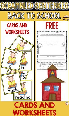 Free Back to School Activities - Scrambled Sentences Primary Classroom, Classroom Ideas, Back To School Activities, Teaching French, Card Reading, Educational Activities, Teaching Tips, Classroom Management, Teacher Resources