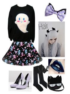 """""""Pastel Goth"""" by thecoolkat ❤ liked on Polyvore featuring even&odd"""