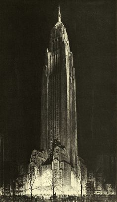 Hugh Ferriss' Art Revisited - Art Curator & Art Adviser. I am targeting the most exceptional art! See Catalog @ http://www.BusaccaGallery.com