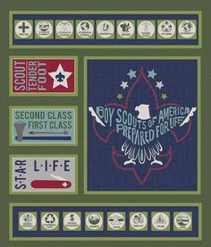 """Boy Scout Fabric Panel Fabric Panel / """"Modern Scouting"""" By The RBD Designers for Riley Blake / Cotton Fabric Panel 1 Yard by SewWhatQuiltShop on Etsy Camping Fabric, Boy Scout Camping, Eagle Scout, Riley Blake, Green Fabric, Fabric Panels, Fabric Online, Boy Scouts, Cotton Fabric"""