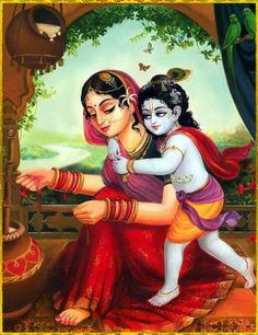 """""""The love of Radha and Krishna is symbolic of the eternal love affair between the devoted mortal and the Divine Radha's yearning for union with her beloved Krishna is the soul's longing for spiritual awakening."""" -- Every aspect of Krishna and His deeds Arte Krishna, Krishna Leela, Jai Shree Krishna, Krishna Love, Krishna Radha, Radha Rani, Durga, Lord Krishna Images, Radha Krishna Pictures"""