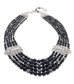 Ben-Amun Bridal Black Deco Statement Necklace | Thomas Laine
