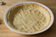 Easy Low Carb Pie Crust - Gluten-Free, Grain-Free, Keto, THM S - Only 3 Ingredients! - This Easy Keto Pie Crust can be either rolled or pressed into a pie plate & works for both sweet and savory recipes. Low Carb Pie Crust, Easy Pie Crust, Low Carb Deserts, Low Carb Sweets, No Roll Pie Crust Recipe, New Dessert Recipe, Paleo Dessert, Dessert Recipes, Almond Flour Recipes
