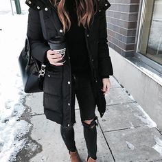 Definitely wore the wrong boots today 🙈. Still so much snow downtown ❄️😳 |  Details to my look: http://liketk.it/2q86G @liketoknow.it #liketkit