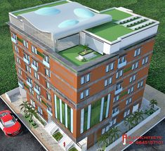"""A Contemporary English style girls hostel. """"The Boxy"""" by A.J. Architects English Style, Hostel, Futuristic, Architects, Contemporary, Mansions, Interior Design, House Styles, Girls"""