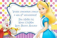 Convite digital personalizado Alice no país das maravilhas 006