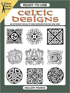 Ready To Use Celtic Designs 96 Different Royalty Free Printed One