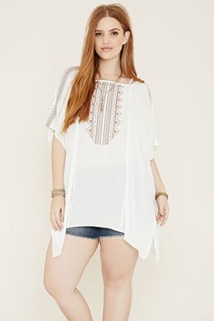 Plus Size Embroidered Cover-Up | Forever 21 PLUS - 2000187244