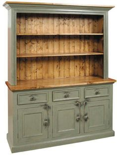 Quite similar to my hutch that I've been thinking about painting. Never thought of leaving part of it wood.